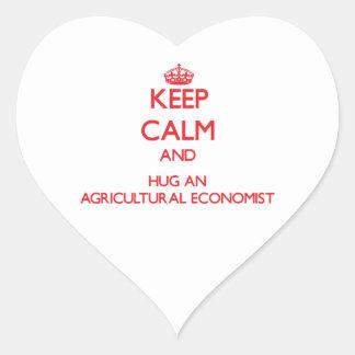 Keep Calm and Hug an Agricultural Economist Heart Sticker