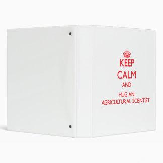 Keep Calm and Hug an Agricultural Scientist Binder