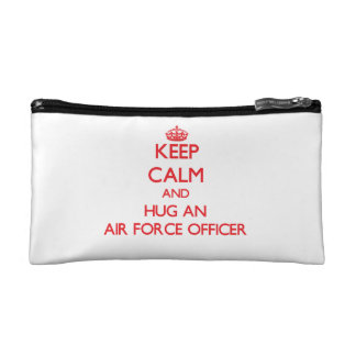 Keep Calm and Hug an Air Force Officer Cosmetic Bags