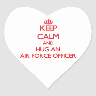 Keep Calm and Hug an Air Force Officer Sticker