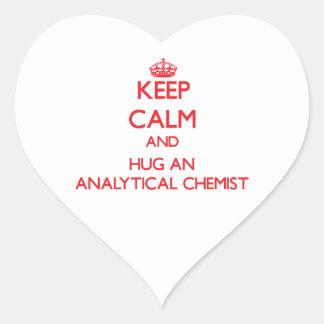 Keep Calm and Hug an Analytical Chemist Heart Sticker