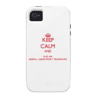 Keep Calm and Hug an Animal Laboratory Technician Case-Mate iPhone 4 Covers