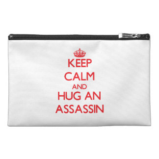 Keep Calm and Hug an Assassin Travel Accessories Bag