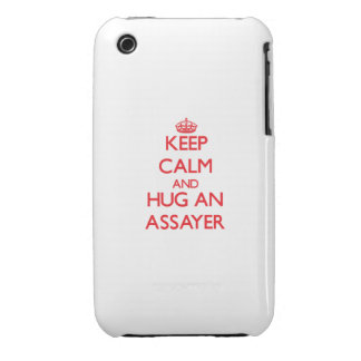 Keep Calm and Hug an Assayer iPhone 3 Case