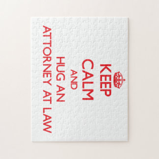 Keep Calm and Hug an Attorney At Law Jigsaw Puzzles