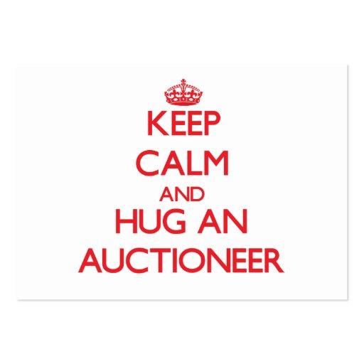 Keep Calm and Hug an Auctioneer Business Card Template
