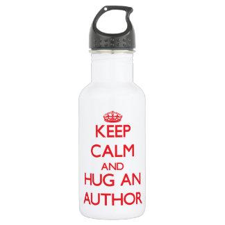 Keep Calm and Hug an Author 18oz Water Bottle