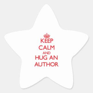 Keep Calm and Hug an Author Sticker