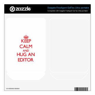Keep Calm and Hug an Editor FreeAgent GoFlex Decal