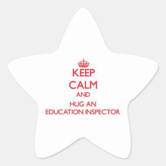 Keep Calm and Hug an Education Inspector Stickers