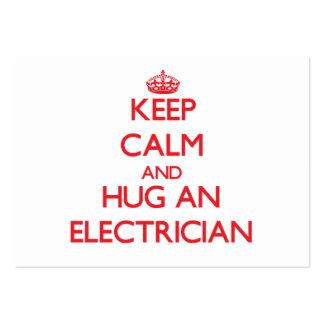 Keep Calm and Hug an Electrician Business Card Template