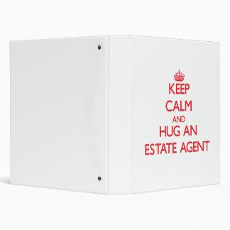 Keep Calm and Hug an Estate Agent Binder