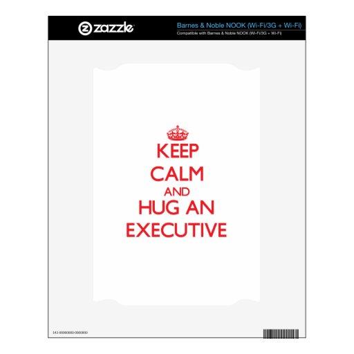 Keep Calm and Hug an Executive Skin For The NOOK