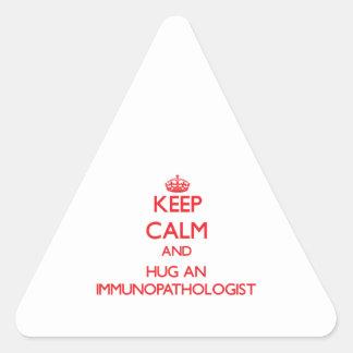 Keep Calm and Hug an Immunopathologist Sticker