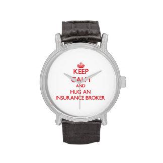 Keep Calm and Hug an Insurance Broker Wristwatch