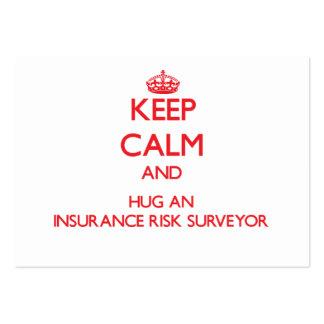 Keep Calm and Hug an Insurance Risk Surveyor Business Card