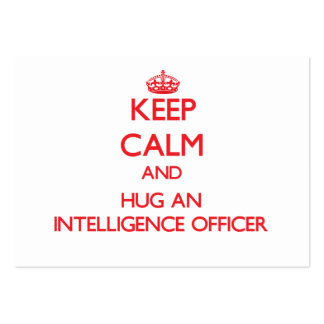Keep Calm and Hug an Intelligence Officer Large Business Cards (Pack Of 100)