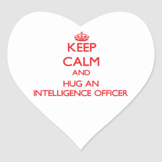 Keep Calm and Hug an Intelligence Officer Stickers