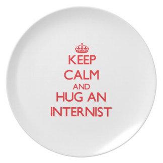 Keep Calm and Hug an Internist Plates