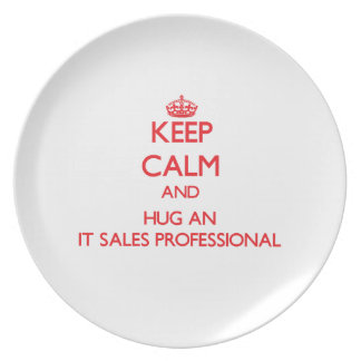 Keep Calm and Hug an It Sales Professional Plates