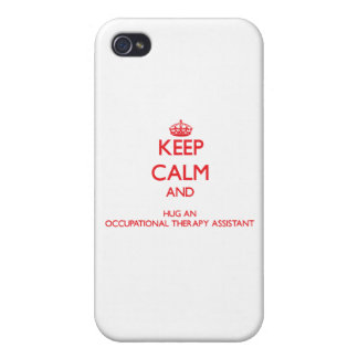Keep Calm and Hug an Occupational Therapy Assistan iPhone 4/4S Cover