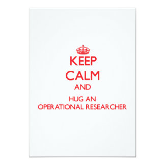 Keep Calm and Hug an Operational Researcher Personalized Invites