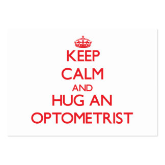 Keep Calm and Hug an Optometrist Large Business Cards (Pack Of 100)