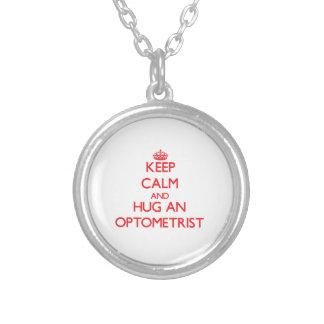 Keep Calm and Hug an Optometrist Pendants
