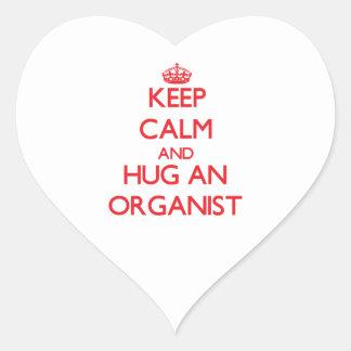 Keep Calm and Hug an Organist Stickers