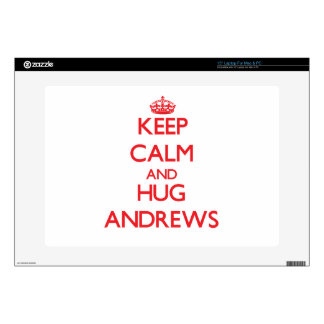 Keep calm and Hug Andrews Decals For Laptops