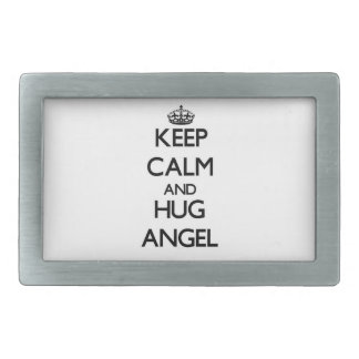 Keep Calm and Hug Angel Belt Buckles