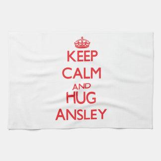 Keep Calm and Hug Ansley Hand Towel