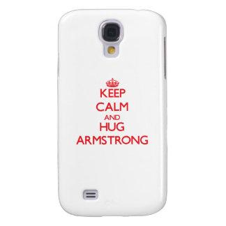 Keep calm and Hug Armstrong Samsung Galaxy S4 Case