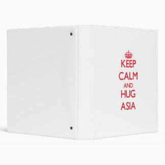 Keep Calm and Hug Asia 3 Ring Binder