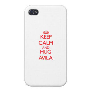 Keep calm and Hug Avila Cover For iPhone 4