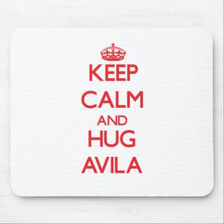 Keep calm and Hug Avila Mouse Pad