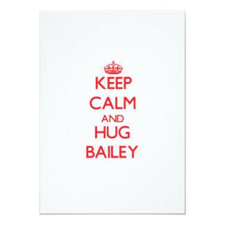 Keep calm and Hug Bailey 5x7 Paper Invitation Card