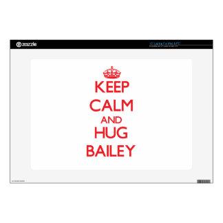 Keep calm and Hug Bailey Laptop Decal
