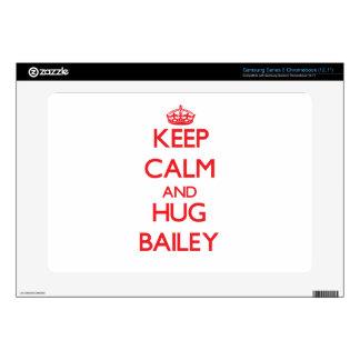 Keep calm and Hug Bailey Samsung Chromebook Skin
