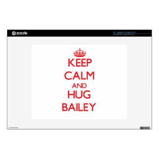 Keep calm and Hug Bailey Skins For Laptops