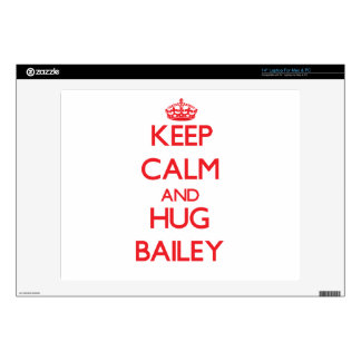 "Keep calm and Hug Bailey 14"" Laptop Skin"