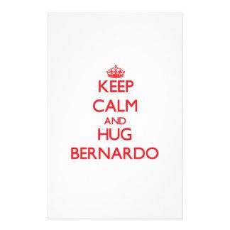 Keep Calm and HUG Bernardo Custom Stationery