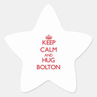 Keep calm and Hug Bolton Star Sticker