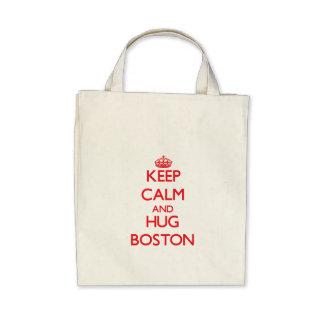 Keep Calm and HUG Boston Bags