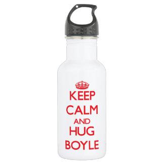 Keep calm and Hug Boyle 18oz Water Bottle