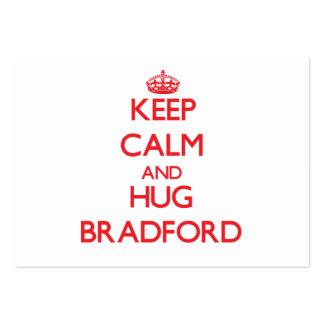 Keep calm and Hug Bradford Business Cards