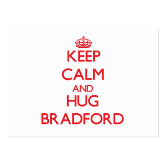 Keep calm and Hug Bradford Business Card Templates