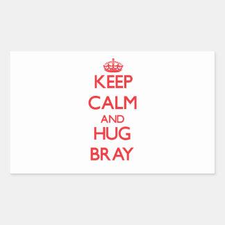 Keep calm and Hug Bray Rectangular Sticker