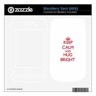 Keep calm and Hug Bright BlackBerry Skin