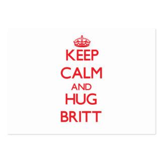 Keep calm and Hug Britt Business Card